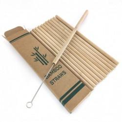 12x Pailles en bambou réutilisable écologique + brosse propre