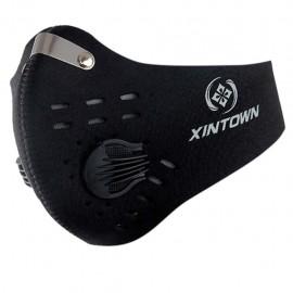 Masque de protection cycliste avec filtre à charbon actif