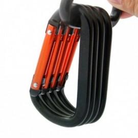 Mousqueton aluminium couleur pour clefs, gourde, portable, etc...