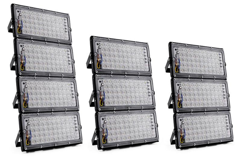 Le Jeune moderne.Accessoires-4 x projecteur 50W LED 220V extérieur IP65 étanche-Lot de 4: Projecteur LED 50w220V extérieur IP65 étanche. Faites de votre terrasse un endroit convivial bien éclairé à prix doux avec ce lot de 4 projecteurs LED 50W étanches pour extérieur. Flux lumineux: 4500lm (280w environ en équivalence ampoule incandescence). Ultra plat, très léger et très facile à poser.LED SMD 2835 à haut rendement.