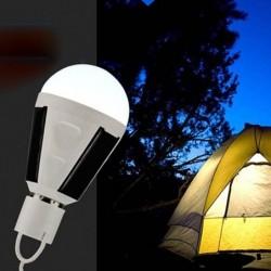 Ampoule E27 LED rechargeable à l'énergie solaire 7 W ou 12 W