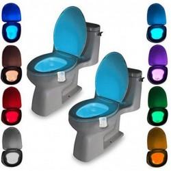 Led multicolore pour cuvette de toilettes avec capteur de mouvement